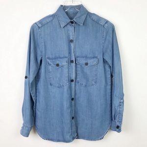 Zara | Button Up Jean Chambray Long Sleeve